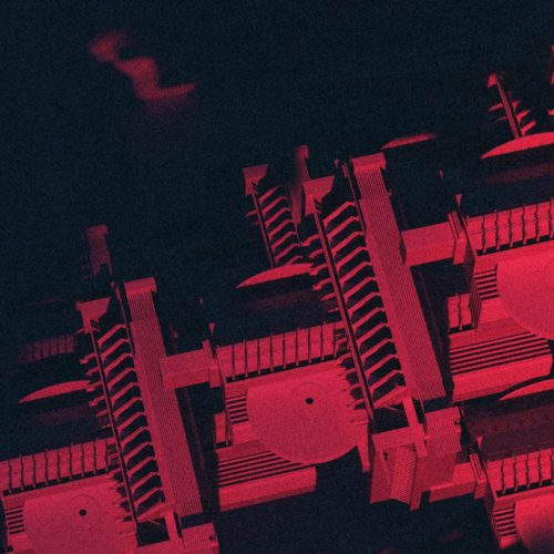 Fractal CGI illustration for electronic music poster