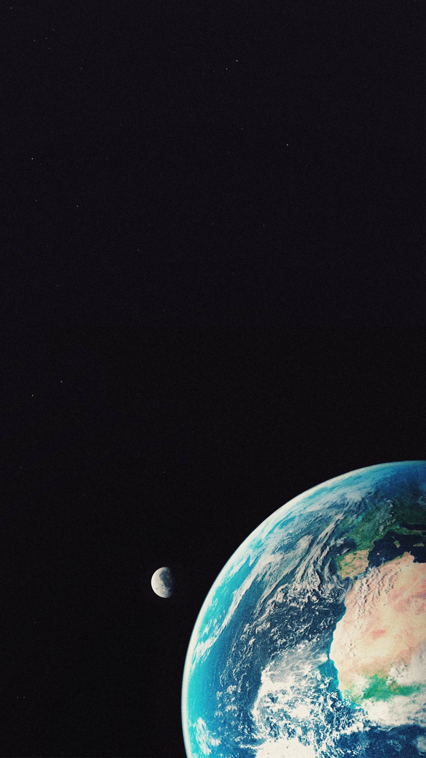Compuer graphic earth and moon simulation