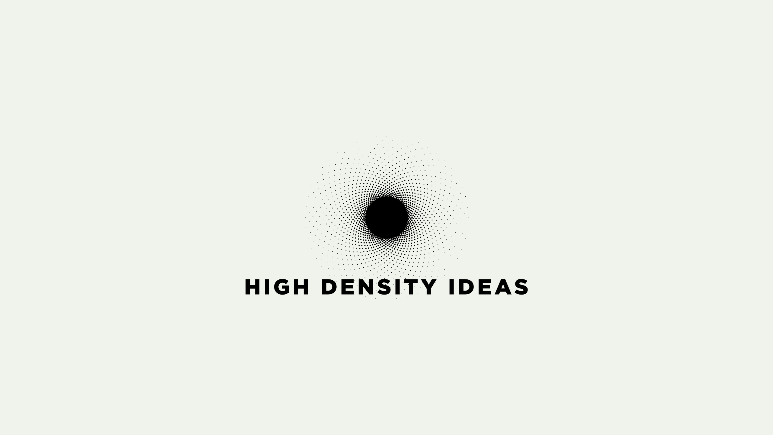 Logo design for Hig Density Ideas. black hole vibrant logo design