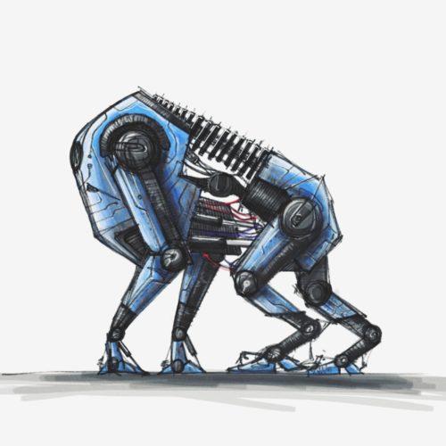 concept gorilla robot, digital painting