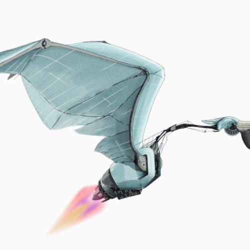 pelican robot, digital paint, time lapse video