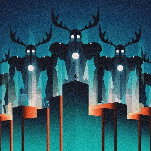 Vector retrofuturistic illustration