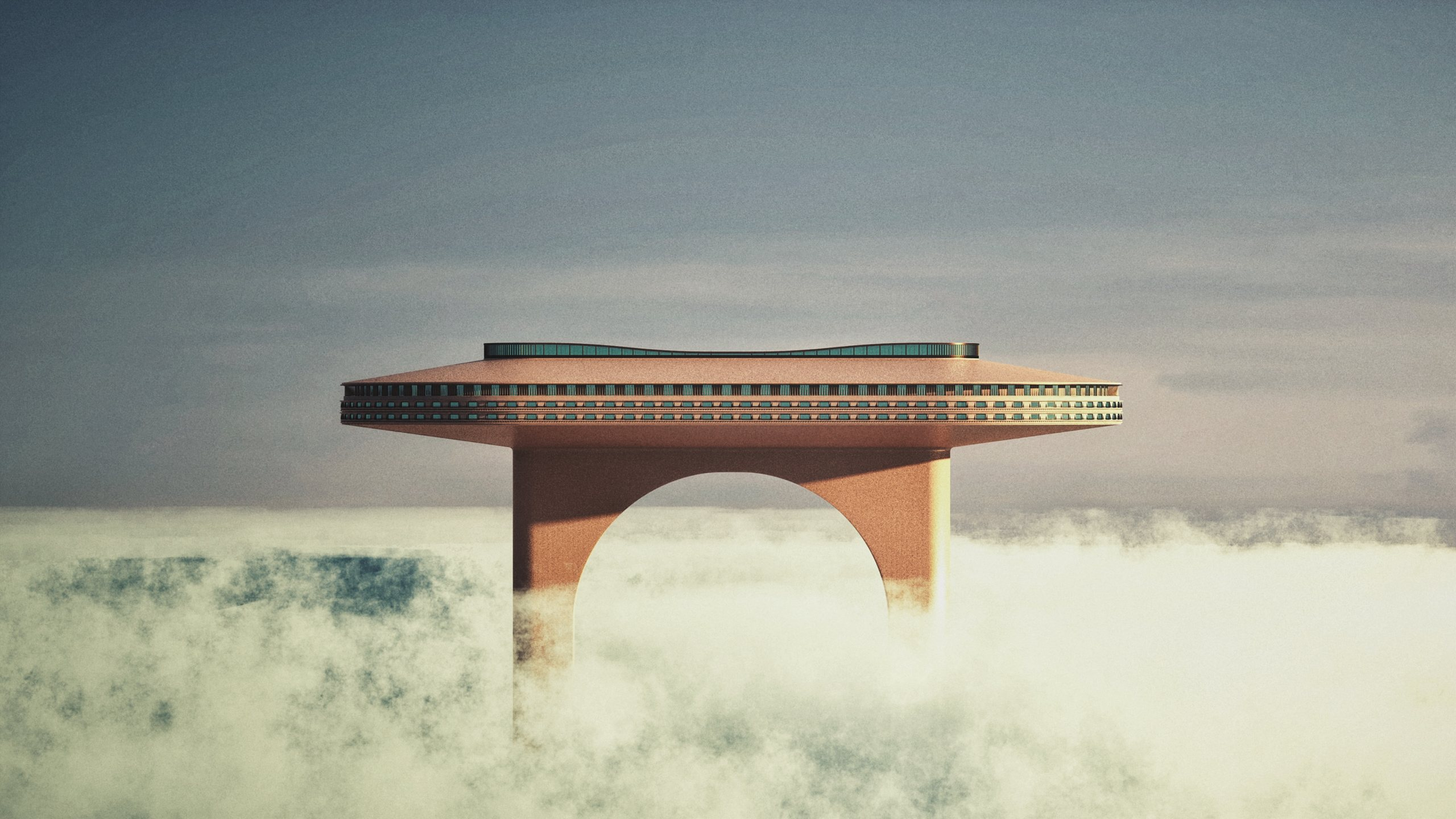 3D rendering of surreal architecture