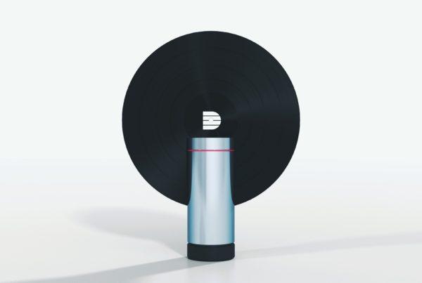 Futuristic vertical record player concept