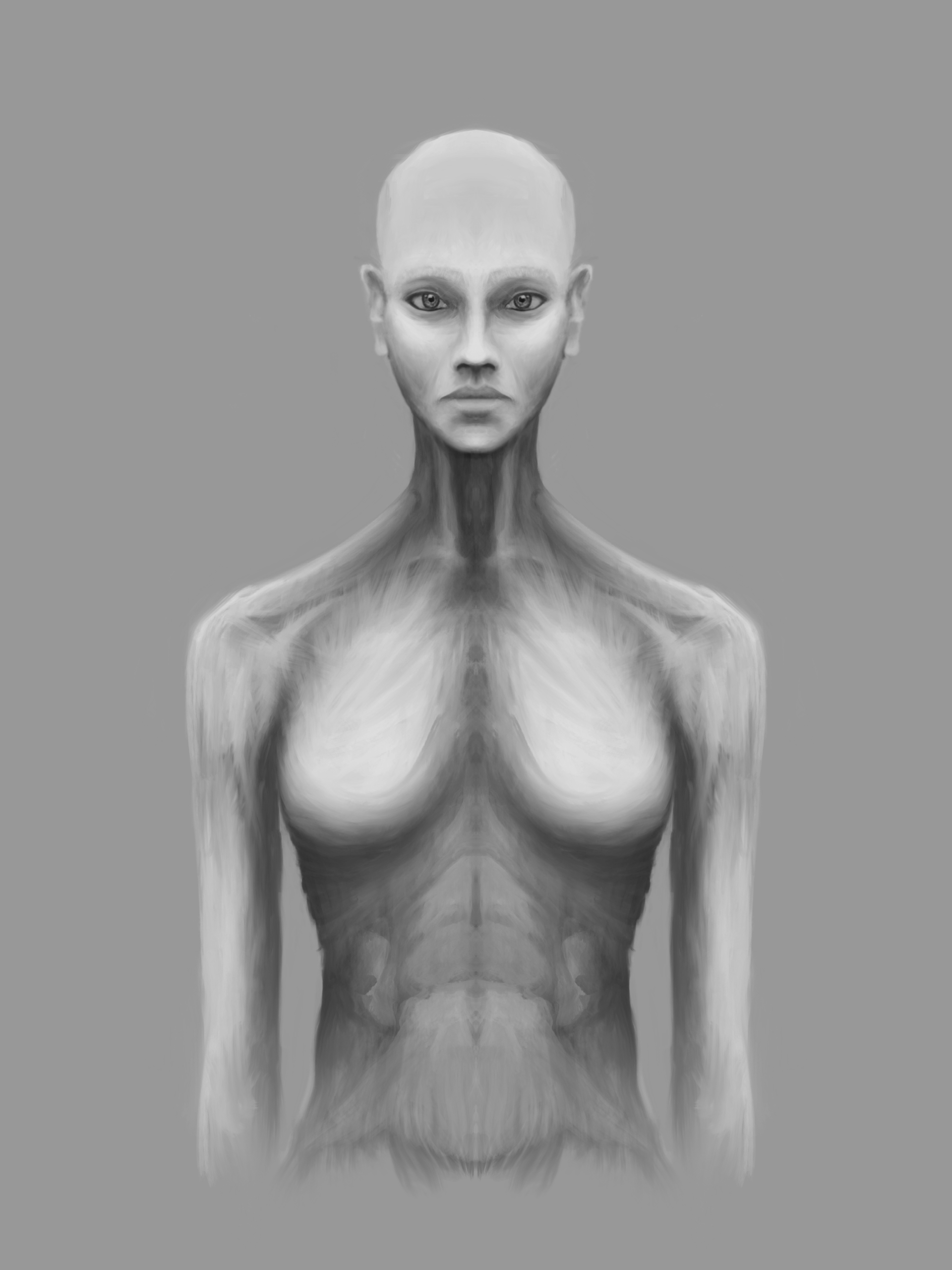 Synthetic woman body
